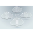 New technologies - cloud computing advantages vector image