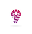 Number 9 logo icon design template elements vector image vector image
