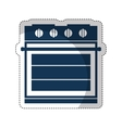 oven appliance isolated icon vector image