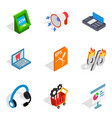 payment icons set isometric style vector image vector image