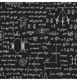 Physical seamless pattern on blackboard vector image