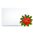 Pointsettia Note vector image vector image