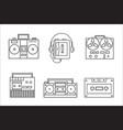 Retro tape recorder linear icon