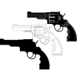 revolver gun weapon vector image