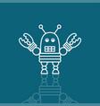 robot as a symbol vector image vector image