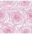 seamless pattern made of linear engraving rose vector image vector image
