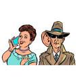 secret services state eavesdrop vector image vector image
