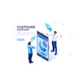 service 3d concept isometric call vector image