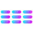 set of blue and purple icons isolated on white vector image