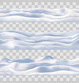 snow seamless borders set snowdrift vector image