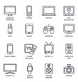 thin line icons set icons for technology vector image vector image