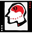 Thinking man icon vector image vector image