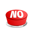 Time to say no button sign template vector image