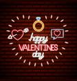 valentine day neon vector image