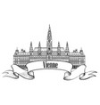 vienna city famous landmark sign travel austria vector image vector image