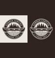 Vintage summer trip round emblem