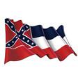 waving flag state mississippi vector image vector image