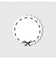 white circle sticker with black ribbon vector image vector image