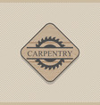 woodworking badges logos and labels interesting vector image