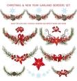 Christmas bordersgarlands decoationSpruce vector image