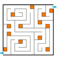 Linear Confused square maze vector image