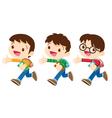 student boy walking vector image