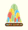 abstract merry christmas tree design vector image