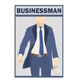 Elegant businessman in suit isolated on white vector image