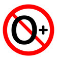 0 age restriction sign vector image vector image