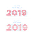 2019 happy new year numbers minimalist style vector image vector image