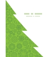 abstract green and white circles Christmas tree vector image vector image