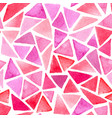 abstract pattern with red triangles vector image vector image