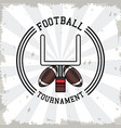 american football tournament vector image vector image