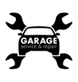 Auto center garage service and repair logo vector image