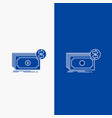 banknotes cash dollars flow money line and glyph vector image