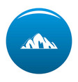 beautiful mountain icon blue vector image vector image
