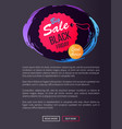 big sale black friday round hanging tag stamp icon vector image
