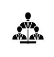 business framework black icon sign on vector image vector image