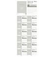 calendar template design 2019 vector image vector image