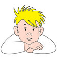 cartoon blonde boy vector image vector image