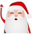 cartoon funny santa claus waving hand isolated vector image vector image