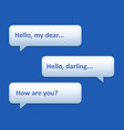 chat frames vector image vector image