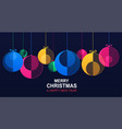 christmas and new year banner with hanging shiny vector image