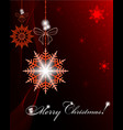 christmas dark red design vector image vector image
