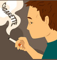 cigarette addiction habit harmful to health vector image