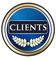 Clients Blue Label vector image vector image