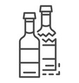 crack glass bottle icon outline style vector image