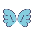 cute wings isolated icon vector image vector image
