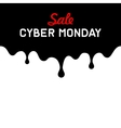 Cyber Monday Background with Sale Tag on Red vector image vector image