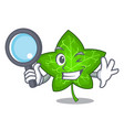 detective green ivy leaf on character cartoon vector image vector image
